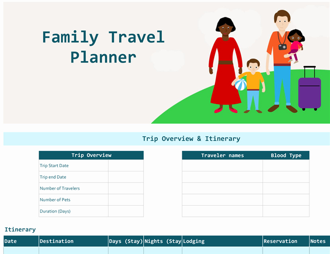 Travel Itinerary Planner Template Unique Multi Country Vacation Itinerary