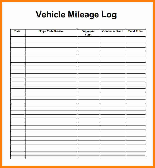 Travel Reimbursement form Template Elegant Mileage Reimbursement form