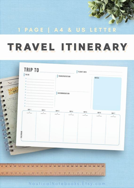 Trip Itinerary Planner Template Best Of Travel Itinerary Template Family Travel Planner Printable