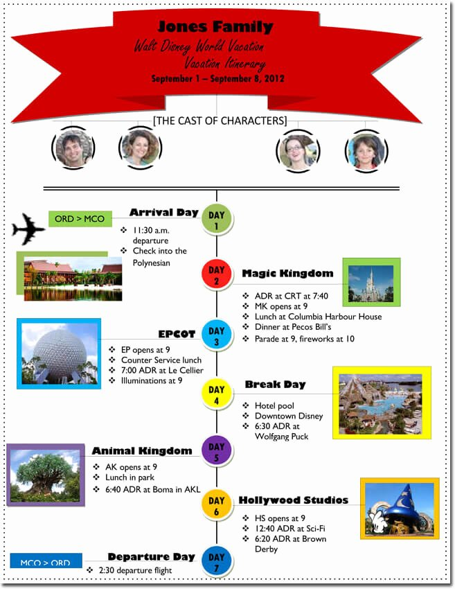 Trip Itinerary Planner Template Unique Free Itinerary Templates to Perfectly Plan Your Trips