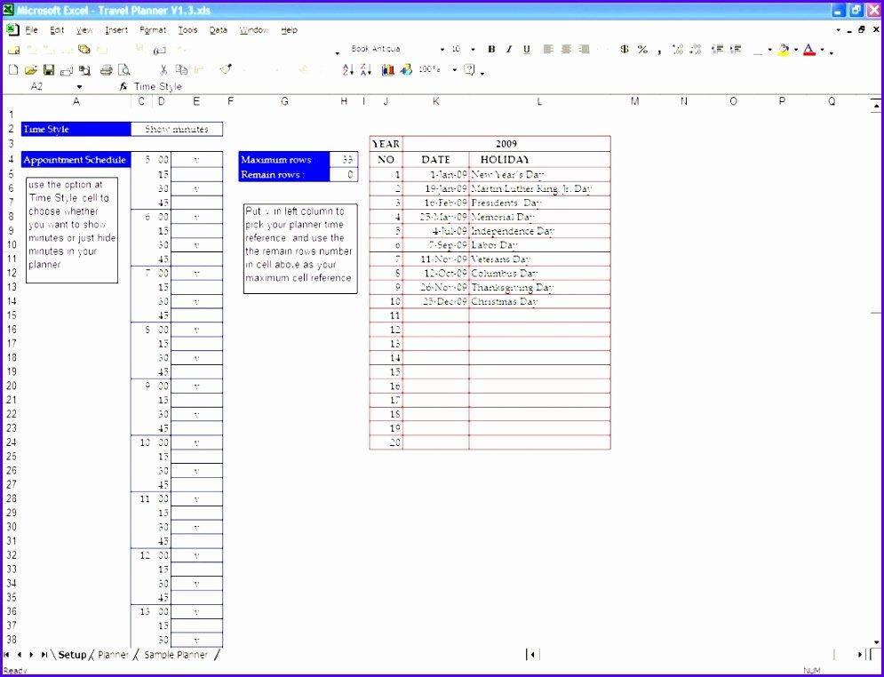 Trip Planner Template Excel Fresh 10 Trip Planner Template Excel Exceltemplates