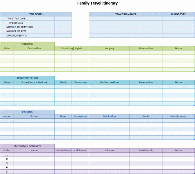 Trip Planner Template Excel Inspirational Free Microsoft Excel Spreadsheets to Help You Get More