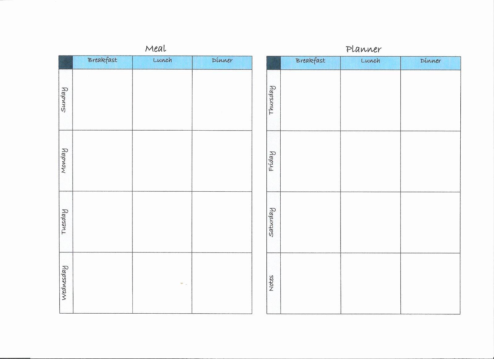 Two Week Meal Planner Template Beautiful Download Free Weekly Meals Planner Template Utorrentgospel