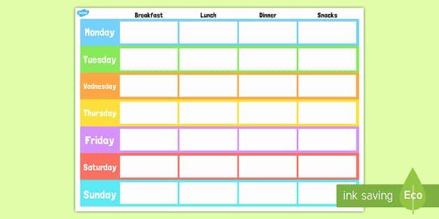 Two Week Meal Planner Template Best Of Weekly Meal Planner Template Weekly Meal Planner Template