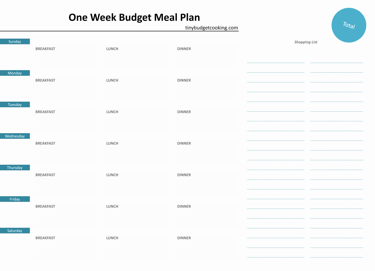 Two Week Meal Planner Template Fresh A Super Guide to Bud Meal Planning Broke In London