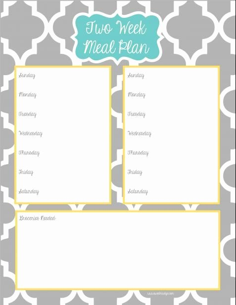 Two Week Meal Planner Template New to Be What is and Planners On Pinterest