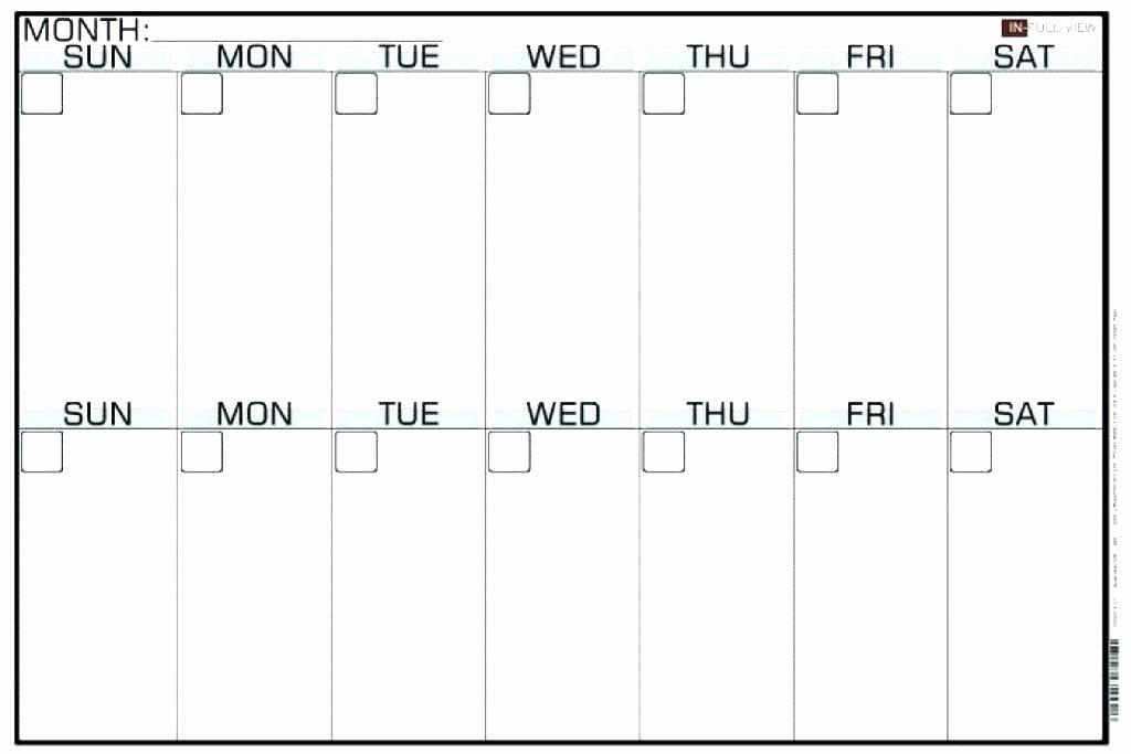 Two Week Schedule Template Beautiful Blank Two Week Calendar – Italfx