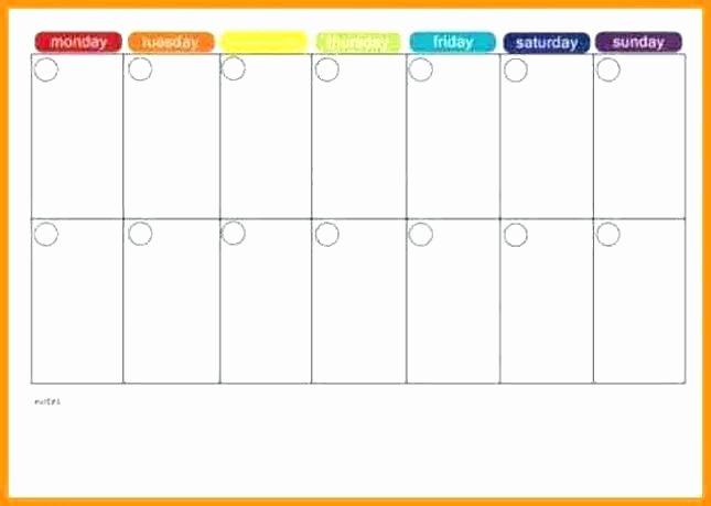 Two Week Schedule Template Unique Blank Two Week Calendar – Italfx