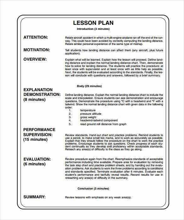 Unit Lesson Plans Template Inspirational Lesson Plan Examples