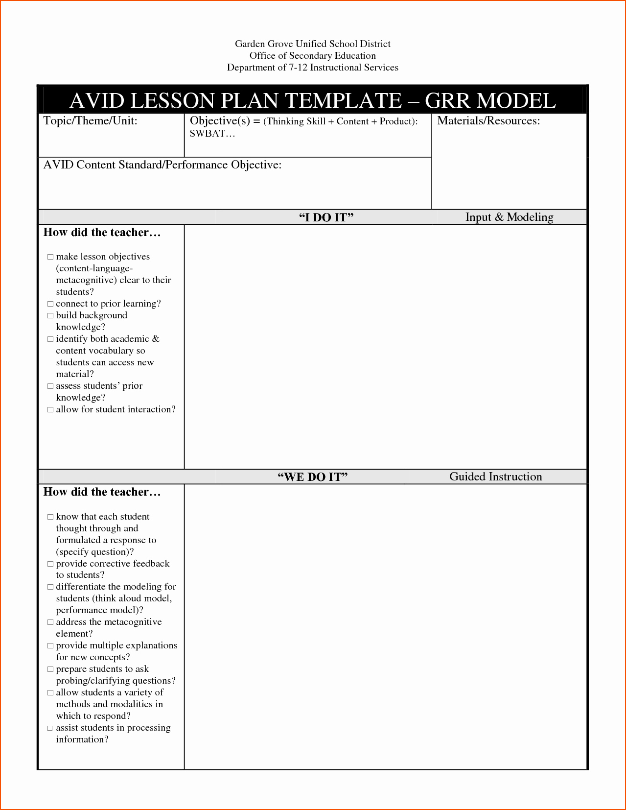 Unit Lesson Plans Template New 8 Lesson Plan Template Doc Bookletemplate