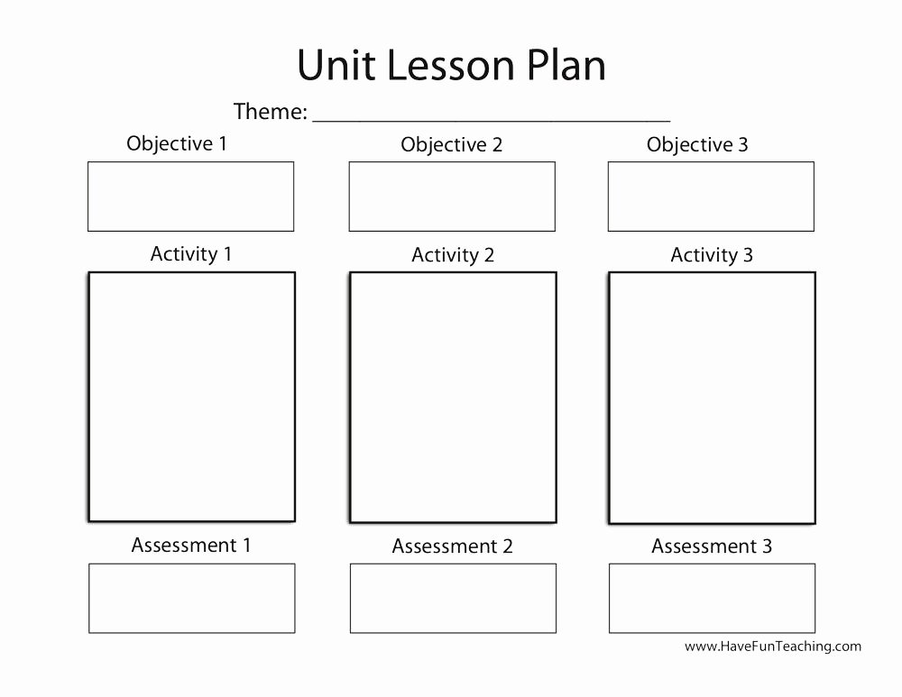 Unit Plan Template Common Core Awesome Lesson Plans