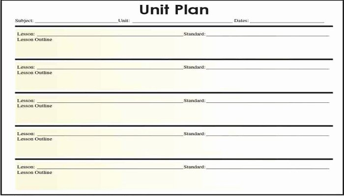 Unit Planner Template for Teachers Beautiful 5 Things About Unit Plan Templates for Kindergarten Teacher