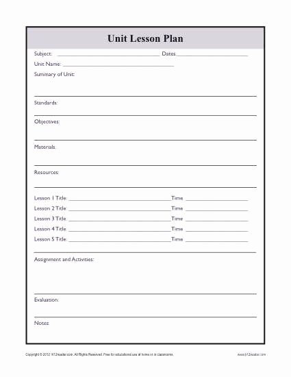 Unit Planner Template for Teachers Fresh Plex Unit Lesson Plan Template