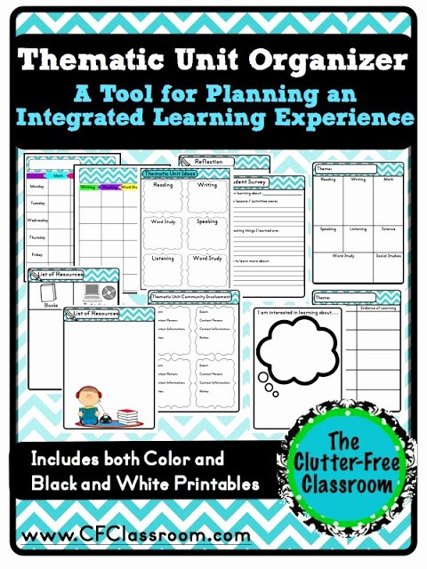 Unit Planner Template for Teachers Lovely Tips for Planning An Integrated Teaching Unit Cross