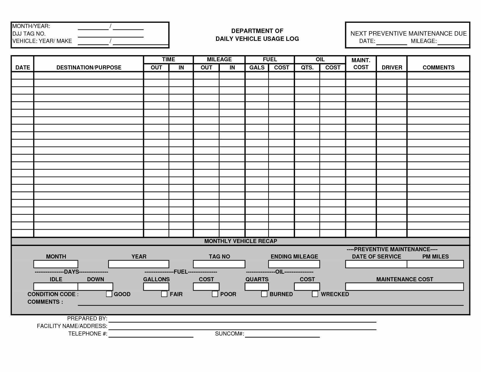 Vehicle Maintenance Schedule Template Excel Awesome Vehicle Maintenance Schedule Template Excel – Printable