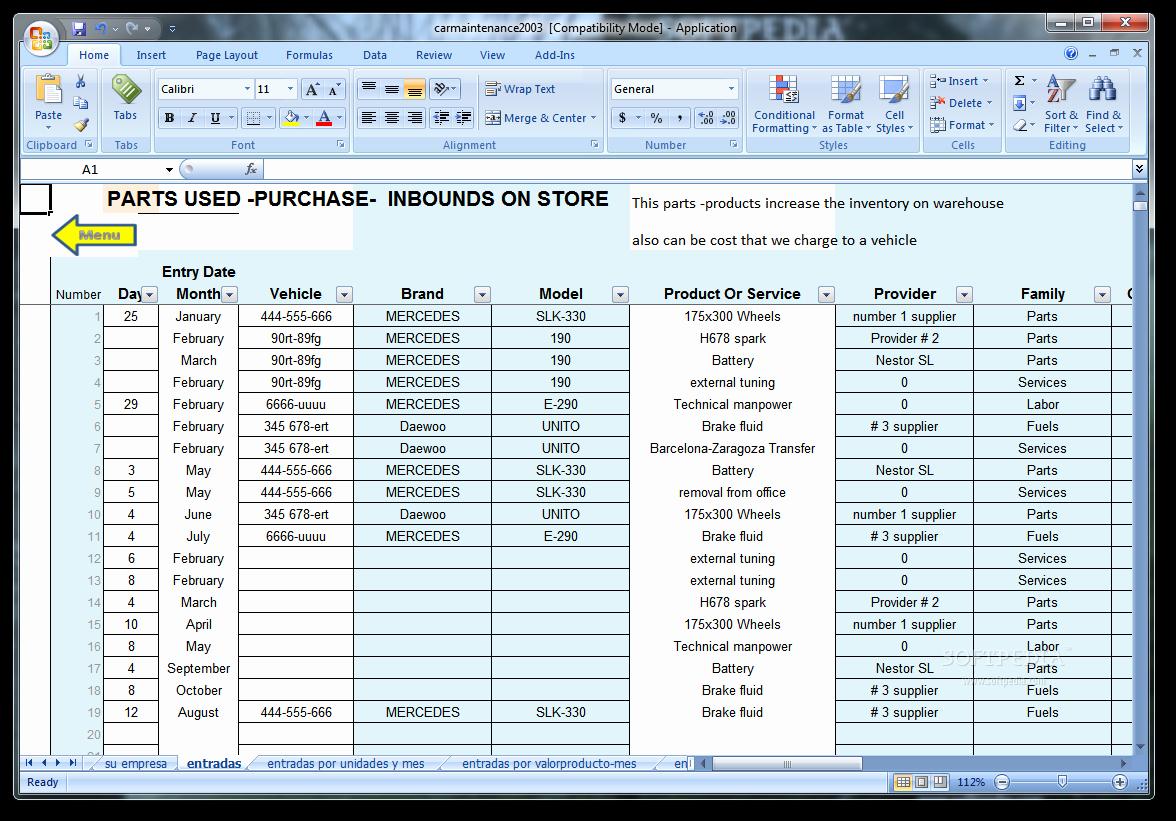 Vehicle Maintenance Schedule Template Excel Fresh Vehicle Maintenance Spreadsheet Template