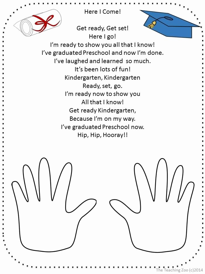 Vpk Lesson Plan Template Best Of Free Graduation Poem for Pre K and Kindergarten by the