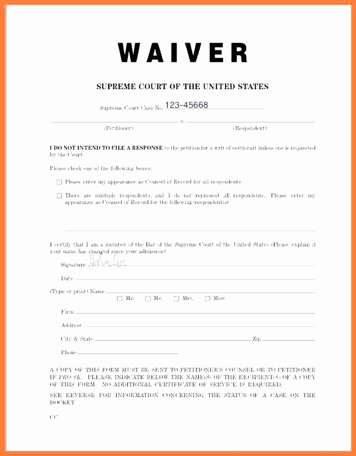Waiver form Template for Sports Lovely Pinster Free Template Ideas