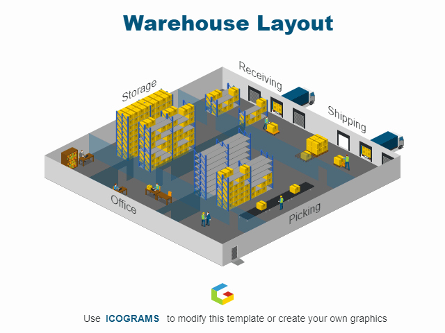 Warehouse Floor Plan Template Awesome Icogram Templates Create Your Icon Diagrams