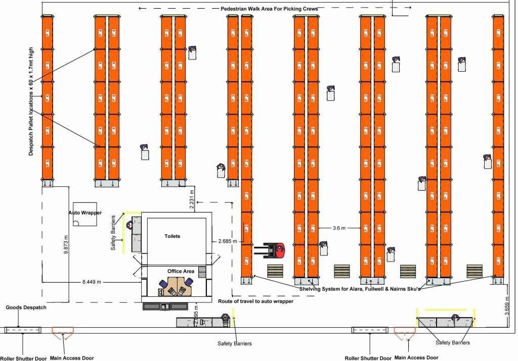 Warehouse Floor Plan Template Elegant Lovely Warehouse Layout 1 Design Warehouse Layout Plan