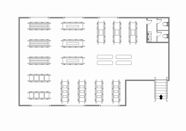 Warehouse Floor Plan Template New Rehabilitation Center Layout