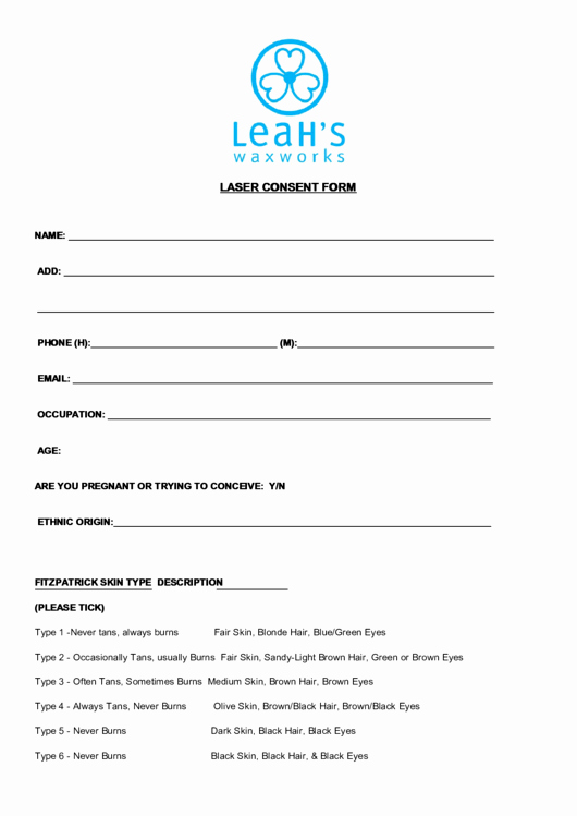 Waxing Consent form Template Best Of top 17 Waxing Consent form Templates Free to In