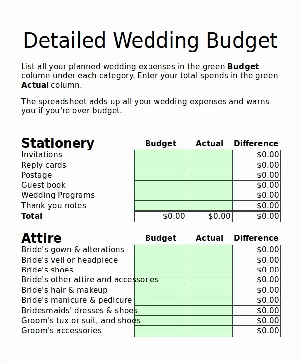 Wedding Budget Planner Template Awesome 19 Simple Bud Planner Templates Word Pdf Excel
