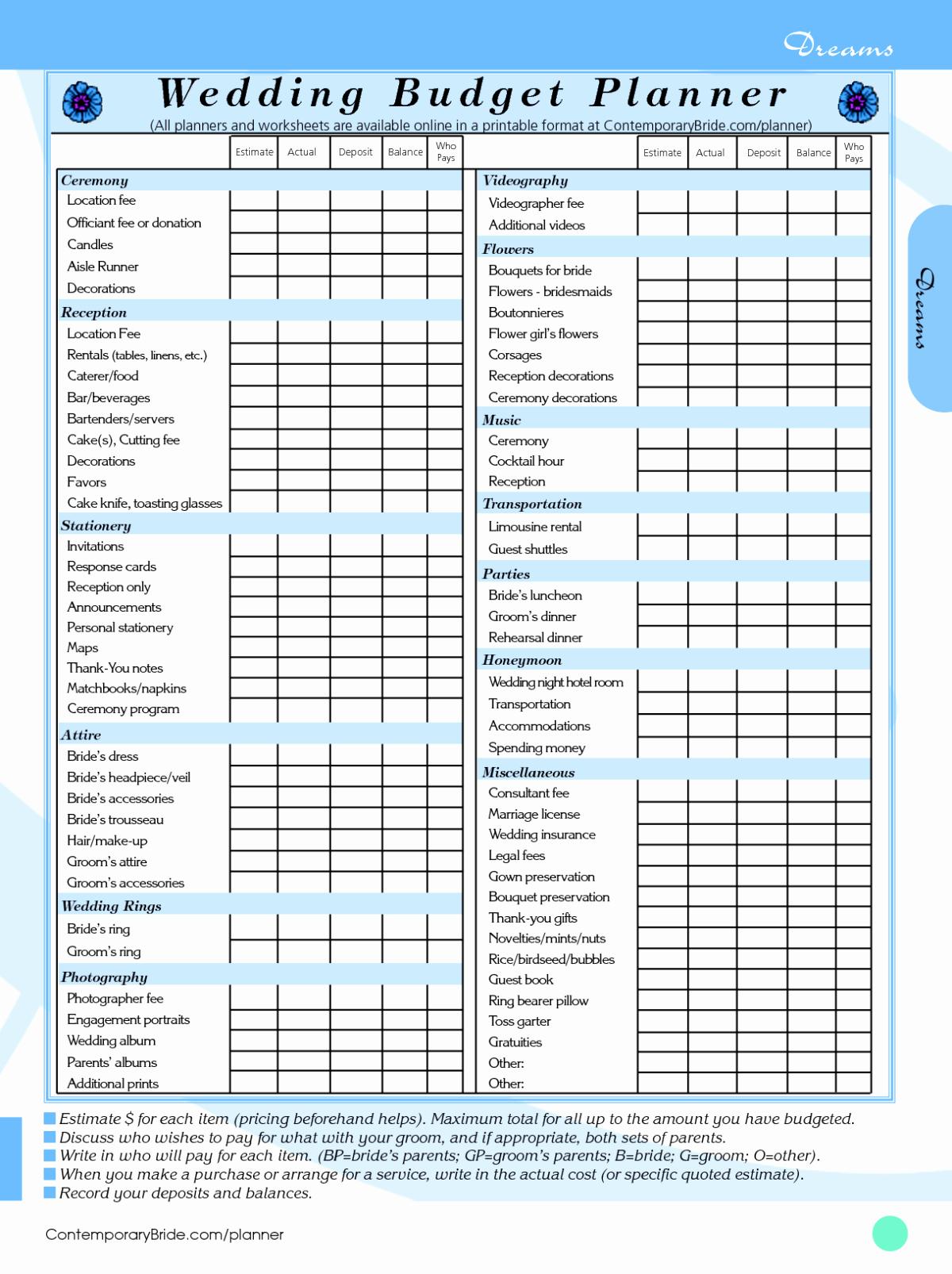 Wedding Budget Planner Template Elegant Wedding Bud Spreadsheet Template Driverlayer Search