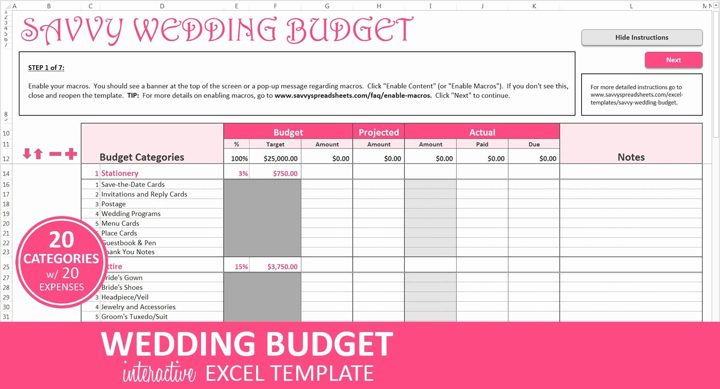 Wedding Budget Planner Template New Wedding Bud Planner Excel Wedding Bud Template