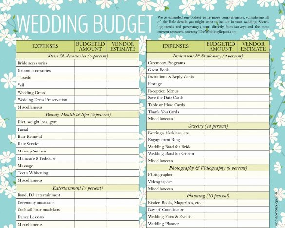 Wedding Budget Planner Template Unique Wedding Bud Template 16 Free Word Excel Pdf