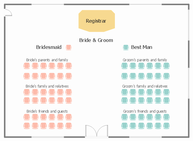 Wedding Floor Plan Template Awesome Wedding Ceremony Seating Plan