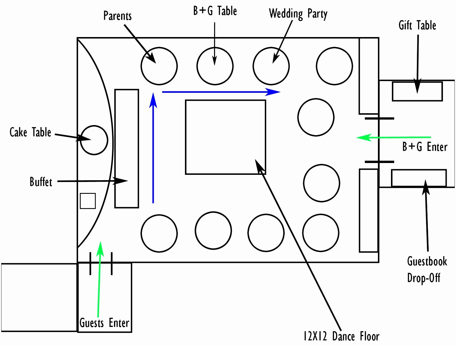 Wedding Floor Plan Template Beautiful Graphy Planning Diagram