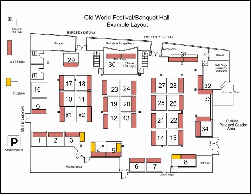 Wedding Floor Plan Template Luxury Old World Festival Banquet Hall and event Location In