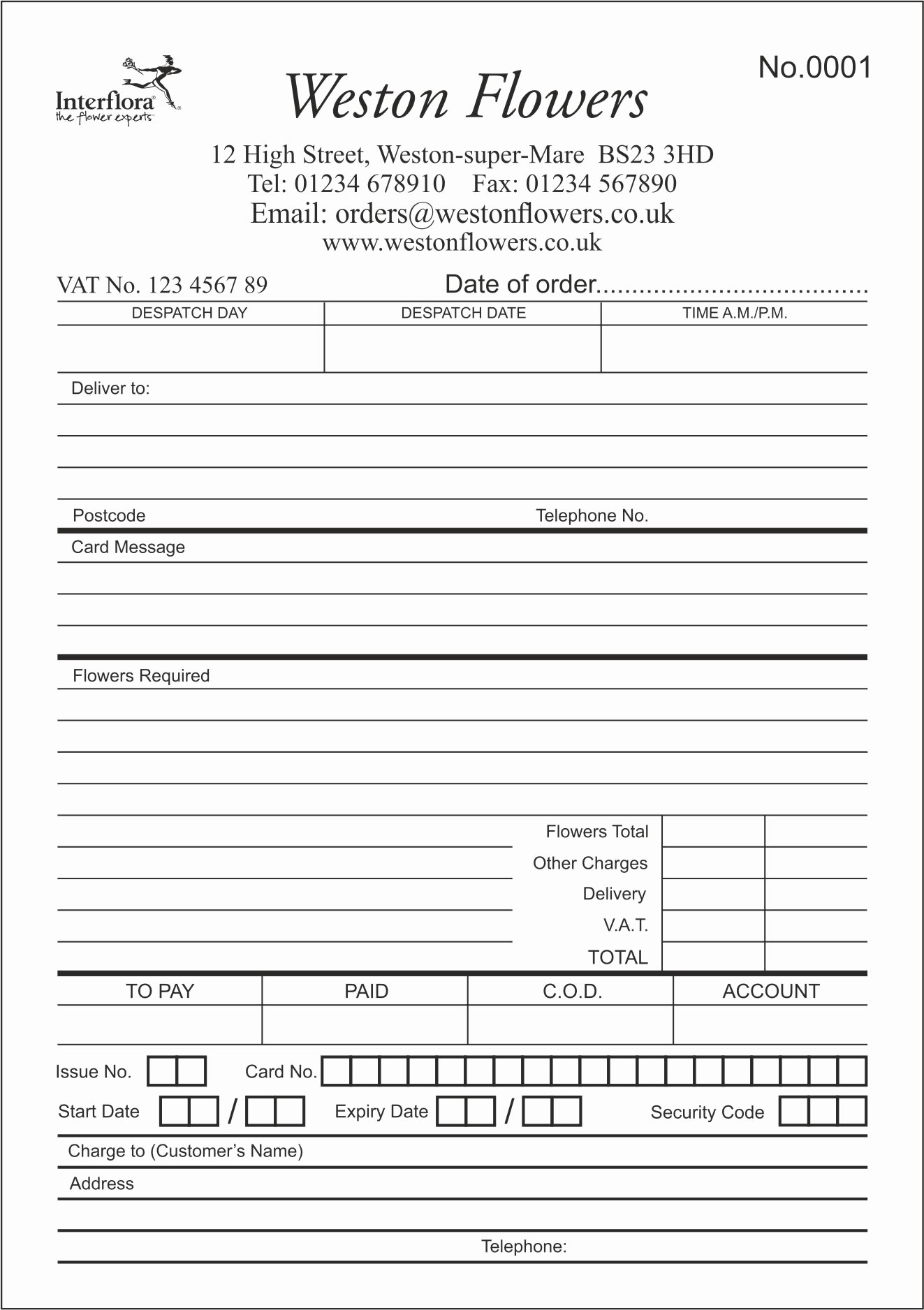 Wedding Flowers order form Template Beautiful Flower order form to Pin On Pinterest Pinsdaddy