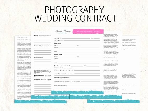 Wedding Flowers order form Template Fresh Items Similar to Wedding Graphy Contract Business
