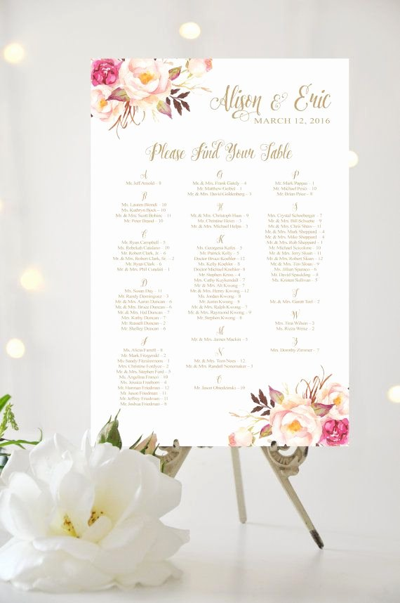 Wedding Flowers order form Template Unique This is Not A Template You Provide Your Guest Names In