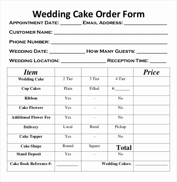 Wedding Flowers order form Template Unique Wedding order Template – 38 Free Word Pdf Psd Vector
