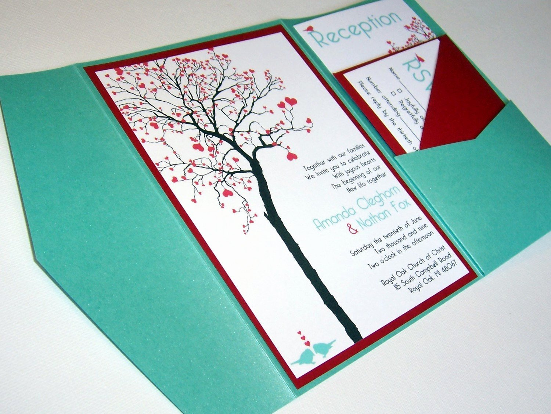 Wedding Invitation Diy Template Elegant Wedding Invitation Diy Pocketfold Heart Tree Printable