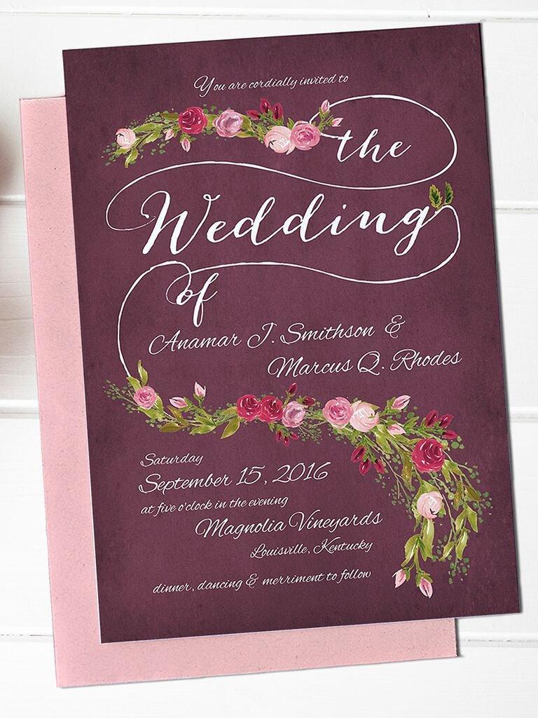 Wedding Invitation Diy Template Fresh 16 Printable Wedding Invitation Templates You Can Diy
