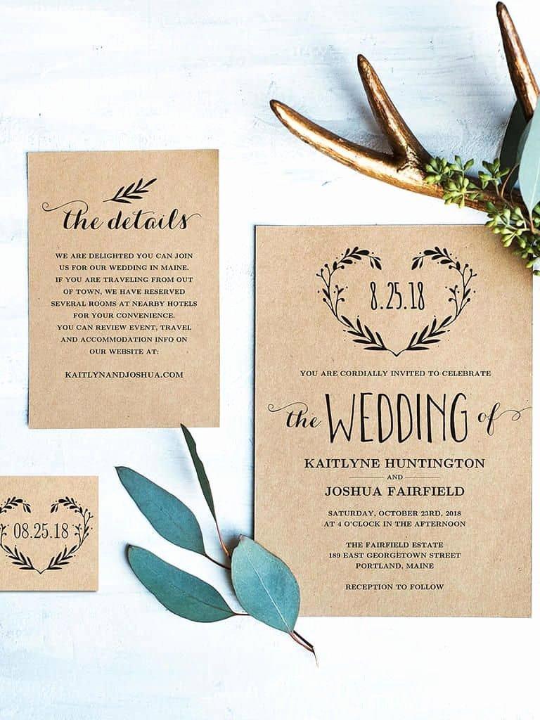 Wedding Invitation Diy Template Inspirational 15 Beautiful Rustic Diy Wedding Invitations Cute Wedding
