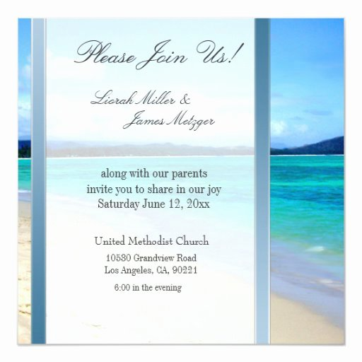 Wedding Invitation Diy Template Inspirational Diy Destination Beach Wedding Invitation Template