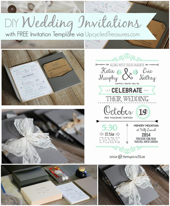 Wedding Invitation Diy Template Lovely 10 Free Wedding Printables for the Crafty Bride – Party In