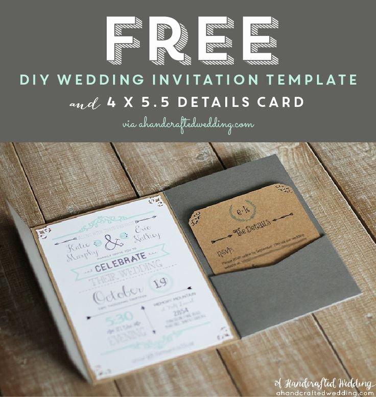 Wedding Invitation Diy Template Lovely Free Printable Wedding Invitation Template Via