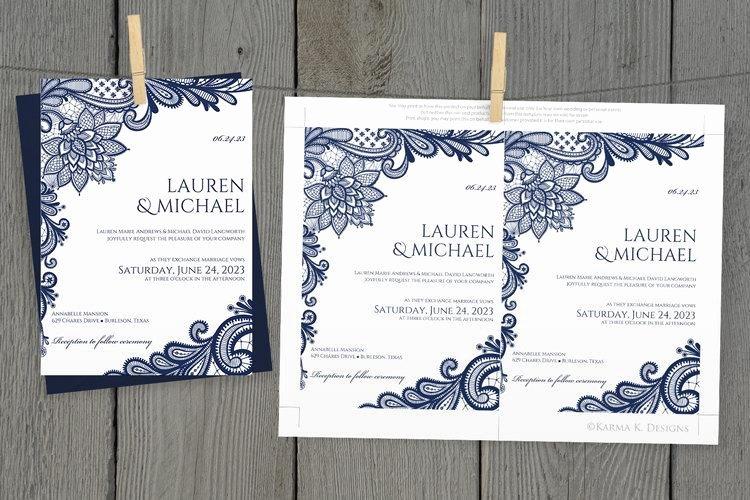 Wedding Invitation Diy Template Luxury Diy Wedding Invitation Template Download Instantly