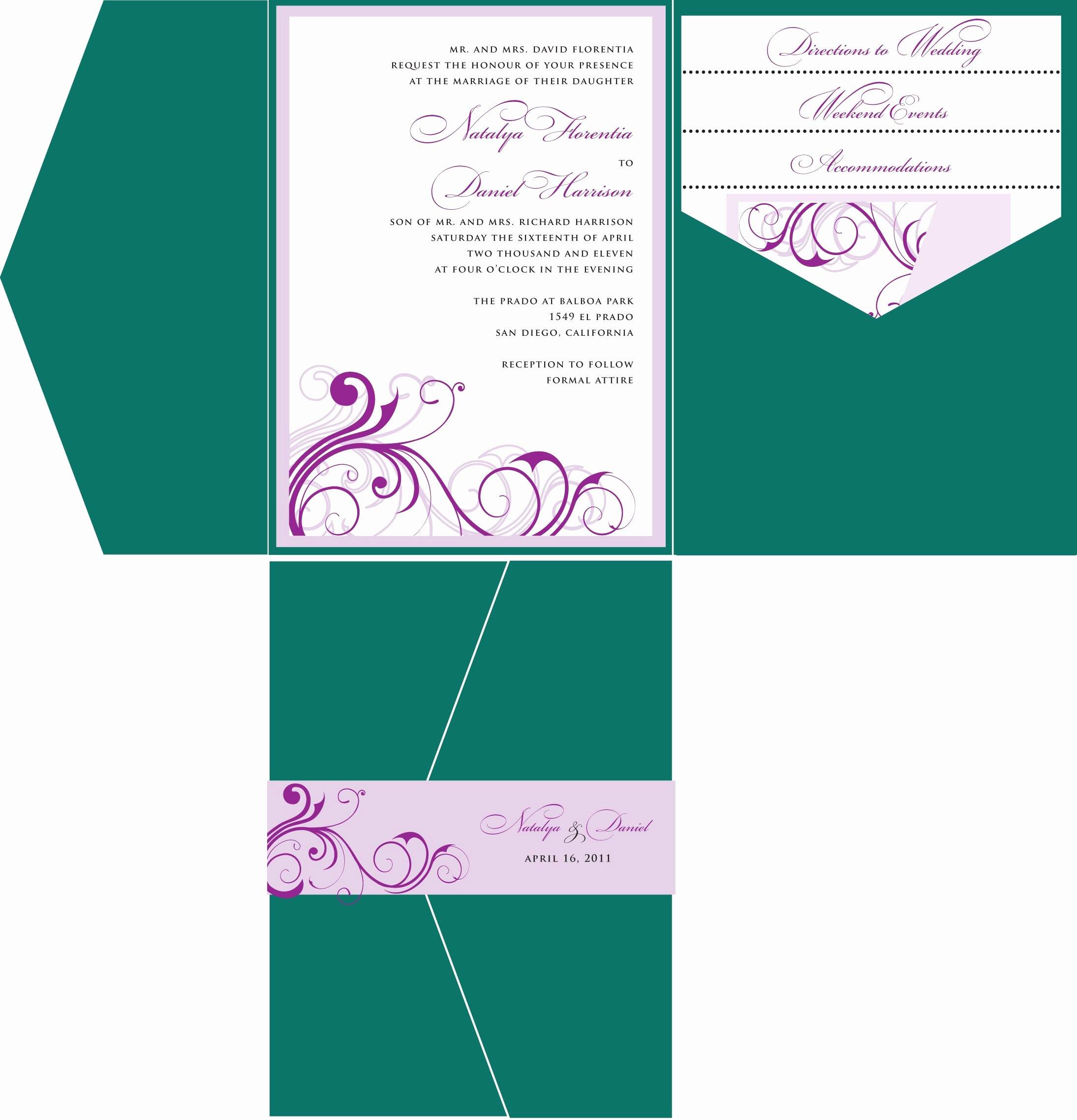 Wedding Invitation Template for Word Beautiful Wedding Invitations Template Wedding Invitations