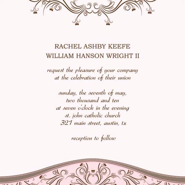 Wedding Invitation Template for Word Best Of 6 Wedding Invitation Templates Excel Pdf formats