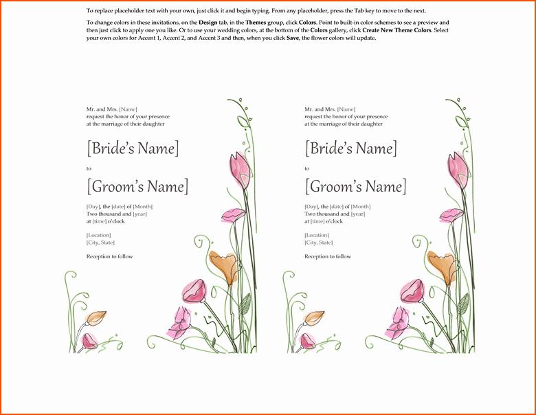Wedding Invitation Template for Word Elegant 4 Wedding Invitations Templates Word Bookletemplate