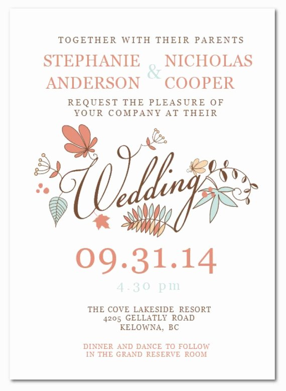 Wedding Invitation Template for Word Elegant Diy Printable Ms Word Wedding Invitation Template W063 by