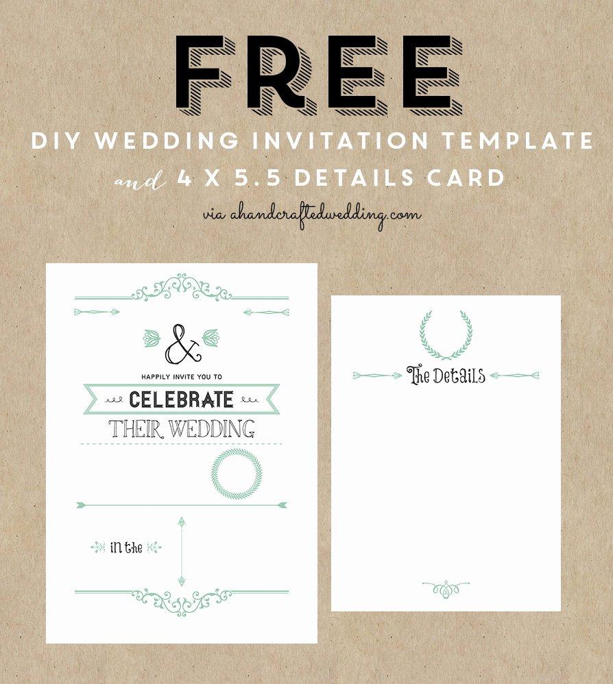 Wedding Invitation Template for Word Elegant Printable Wedding Invitation Templates Free Printable