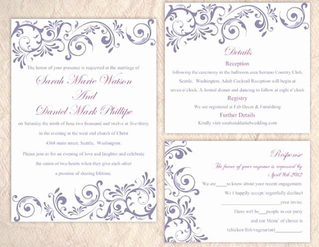 Wedding Invitation Template for Word Fresh Diy Wedding Invitation Template Set Editable Word File